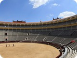 interior de la Plaza de toros en Ventas